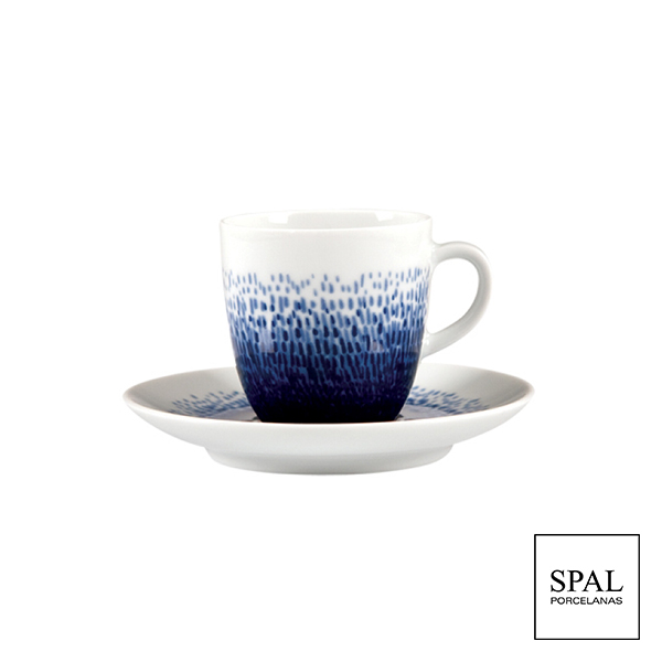 Coffee Cup And Saucer Blue Rain Spal